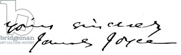 JAMES JOYCE (1882-1941) Irish author. Autograph signature.