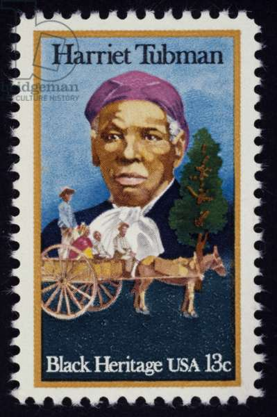 HARRIET TUBMAN ( c.1820-1913) American abolitionist. On a U.S. postage stamp, 1978.
