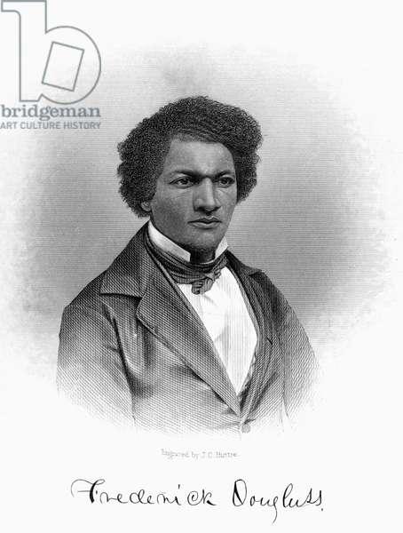 FREDERICK DOUGLASS ( c.1817-1895). American reformer. Steel engraving, American, 1854.