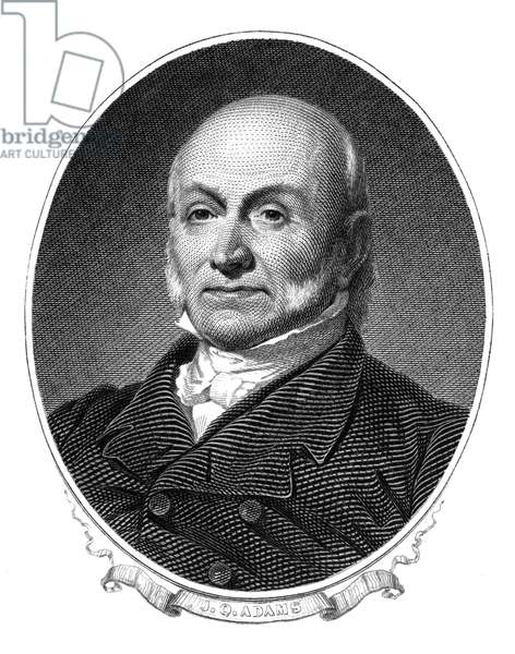 JOHN QUINCY ADAMS (1767-1848). Sixth President of the United States. Steel engraving.