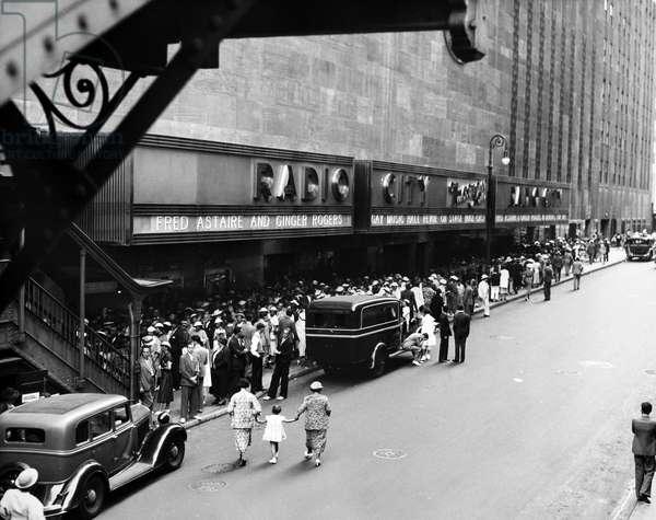 NEW YORK: RADIO CITY, 1935 Radio City Music Hall, New York City, 1935.