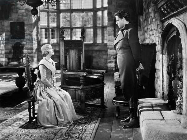 FILMS: JANE EYRE, 1944 Joan Fontaine and Orson Welles in a scene from the 1944 film production of 'Jane Eyre.'