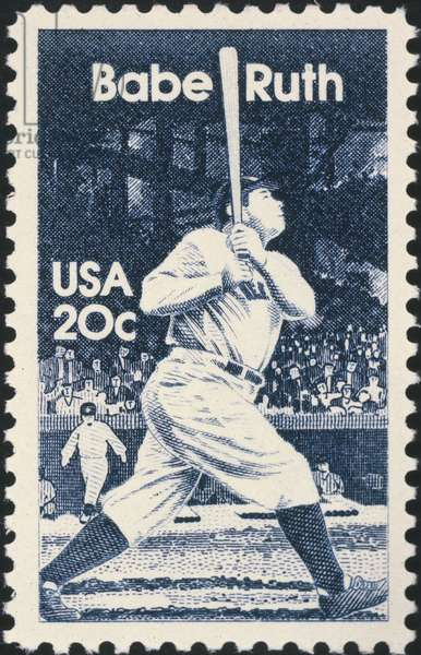 GEORGE H. RUTH (1895-1948) Known as Babe Ruth. American baseball player. On a U.S. postage stamp, 1983.