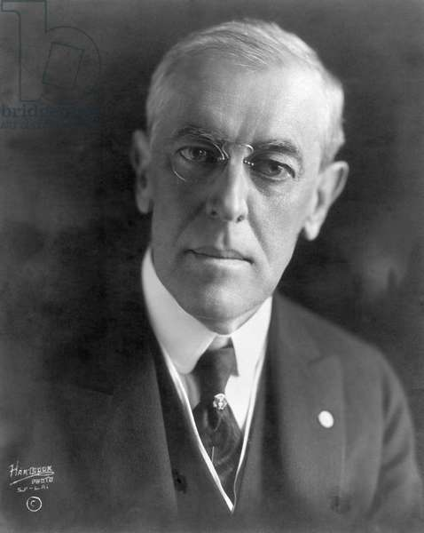 WOODROW WILSON (1856-1924) 28th President of the United States. President Wilson photographed in 1919.