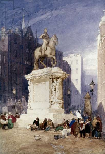 COTMAN: KING CHARLES Statue of King Charles I at Charing Cross.