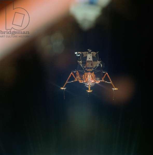 APOLLO 11, 1969 The Apollo 11 Lunar Module in a landing configuration. Photograph, 20 July 1969.