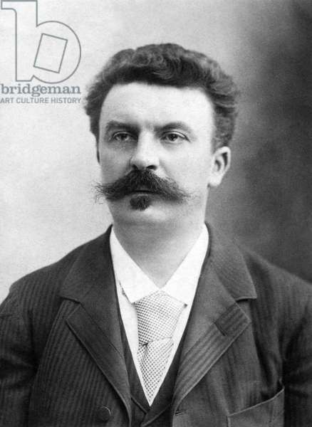 GUY de MAUPASSANT (1850-1893). French writer. Original cabinet photograph by Nadar.