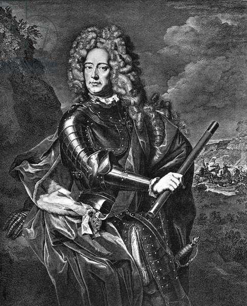 JOHN CHURCHILL (1650-1722) 1st Duke of Marlborough. English military commander. Contemporary copper engraving.