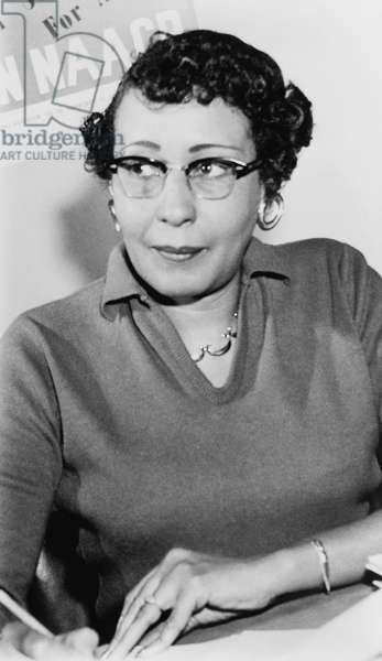 RUBY HURLEY (1909-1980) American civil rights leader. Photograph, 1963.