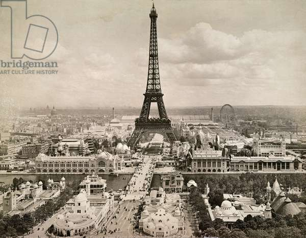 PARIS: EIFFEL TOWER, 1900 The Eiffel Tower, photographed at the time of the Universal Exposition at Paris in 1900.