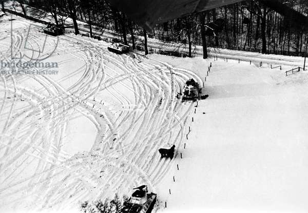WORLD WAR II: U.S. TANKS American tanks in the Malmedy area north of the formerly German-held 'Belgium Bulge,' January 1945.