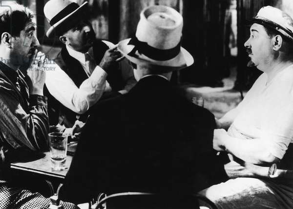 FILM: MARIUS, 1931 Scene in César's cafe on the Marseilles waterfront from the film adaptation, 1931, of Marcel Pagnol's novel of the same name.