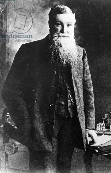 JOHN BOYD DUNLOP (1840-1921) Scottish inventor and co-founder of the Dunlop Pneumatic Tyre Company. Undated photograph.