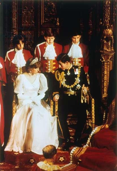 PRINCE CHARLES AND DIANA Prince and Princess of Wales, photographed c.1981.