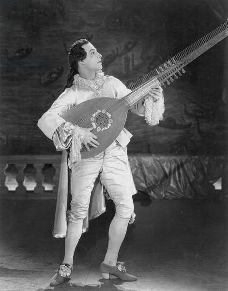 RUDOLPH VALENTINO (1895-1926). American (Italian-born) film actor. Valentino in the title role of 'Monsieur Beaucaire,' 1924.