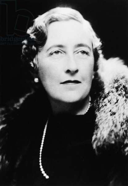 AGATHA CHRISTIE (1890-1976) English writer. Photographed c.1940..