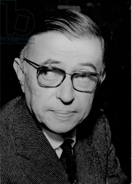 JEAN-PAUL SARTRE (1905-1980) French philosopher, novelist, and dramatist. Photographed in 1962.