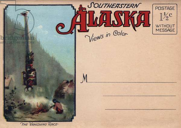 ALASKA: POSTCARD, c.1930 Cover of a pack of postcards from southeastern Alaska, c.1930.