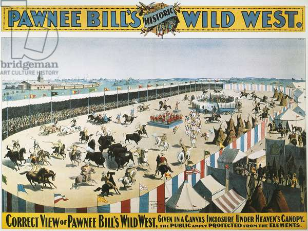 W.F.CODY POSTER, 1894 An 1894 poster for the Wild West Show of