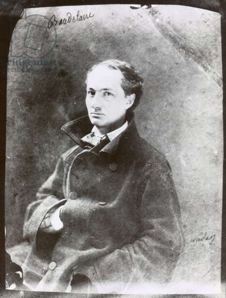 CHARLES BAUDELAIRE (1821-1867). French poet. Photographed by Nadar, c.1855.