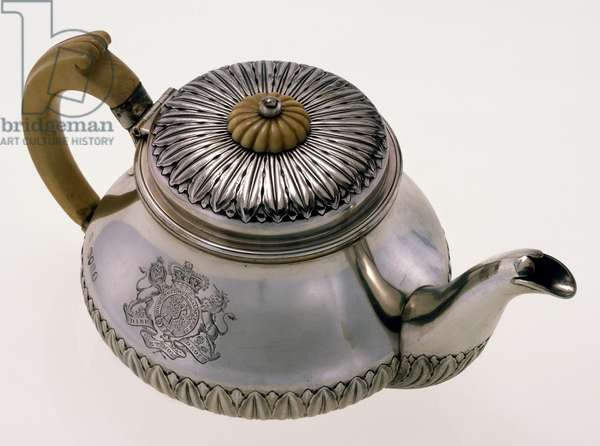 HAWAII: ROYAL TEAPOT Silver teapot given to Queen Ka'ahumanu by the British royal family in 1825.