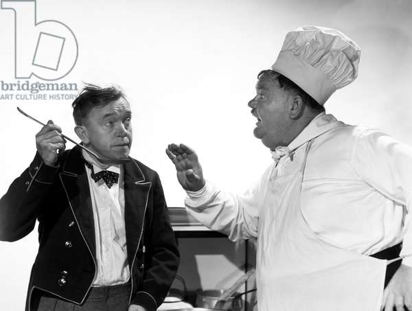 NOTHING BUT TROUBLE, 1947. Stan Laurel (left) and Oliver Hardy.