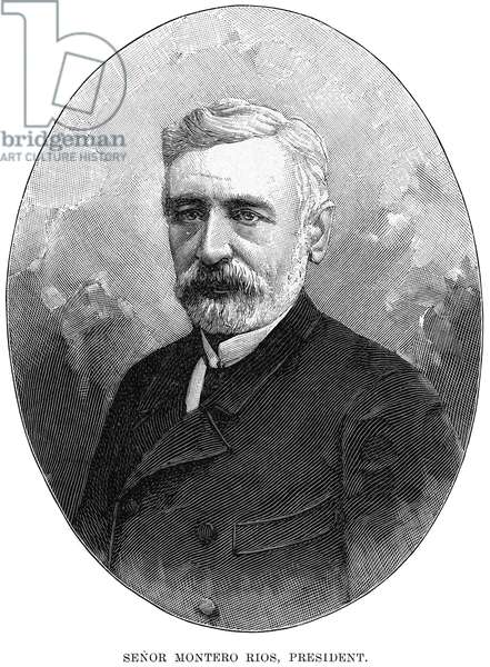 EUGENIO MONTERO RIOS (1832-1914). Spanish statesman and jurist. Wood engraving, English, 1898.