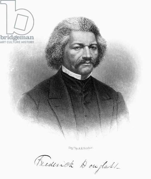 FREDERICK DOUGLASS ( c.1817-1895). American abolitionist. Steel engraving, 1868.