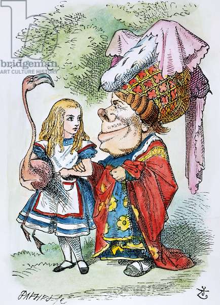 ALICE IN WONDERLAND, 1865. Alice and the Duchess. Illustration by John Tenniel from the first edition of Lewis Carroll's 'Alice's Adventures in Wonderland,' 1865.
