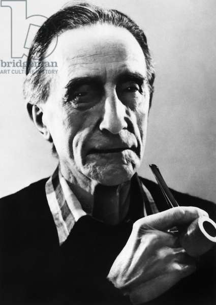 MARCEL DUCHAMP (1887-1968) French artist. Photographed by John D. Schiff, late 1950s.