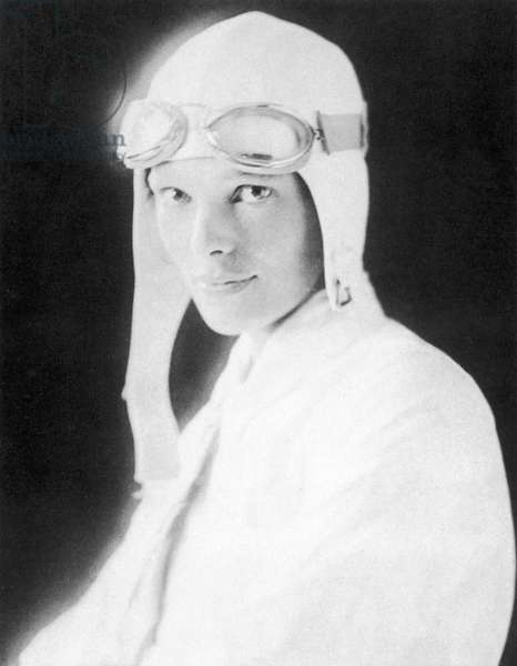 AMELIA EARHART (1897-1937) American aviator. Photographed in 1928 at age 30.
