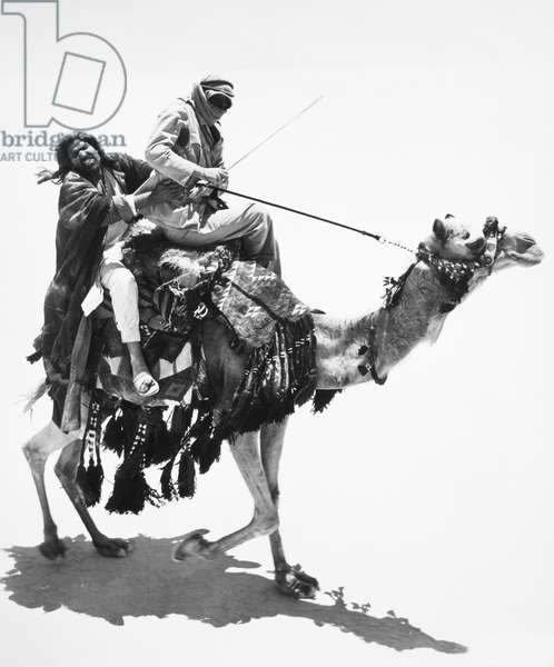 LAWRENCE OF ARABIA, 1962 Film still with Peter O'Toole in the title role.