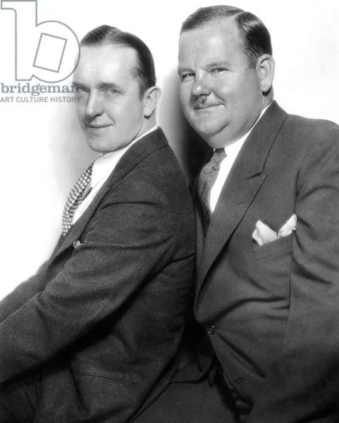 LAUREL AND HARDY, c.1930 Stan Laurel (1890-1965) and Oliver Hardy (1892-1957); publicity photo, c.1930.