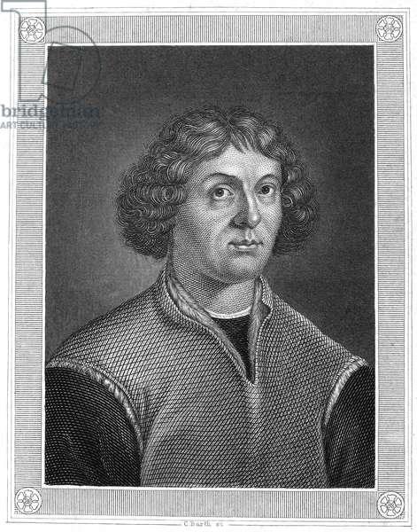 NICOLAUS COPERNICUS (1473-1543) Polish astronomer. Steel engraving, German, 19th century.