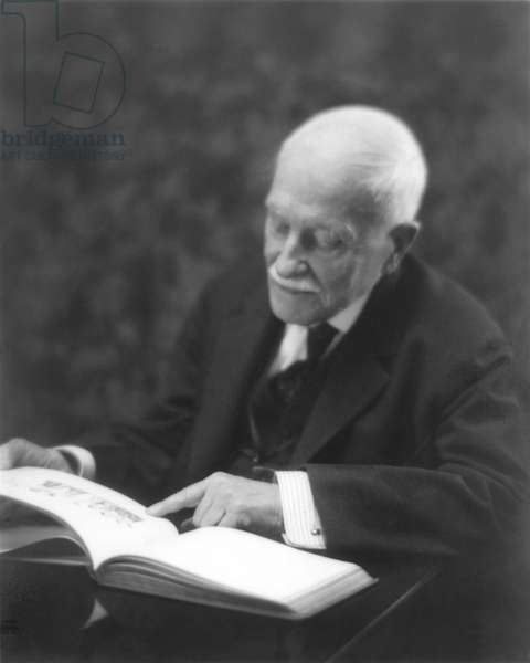 WILLIAM DEAN HOWELLS (1837-1920). American man of letters. Photographed not long before his death by Mary Dale Clarke.
