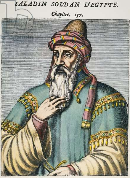 SALADIN (1138-1193) Muslim sultan. French woodcut, 1584.