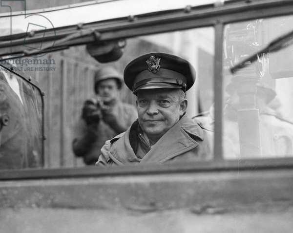 DWIGHT D. EISENHOWER (1890-1969). 34th President of the United States. Photographed as Supreme Allied General during World War II, 1944.