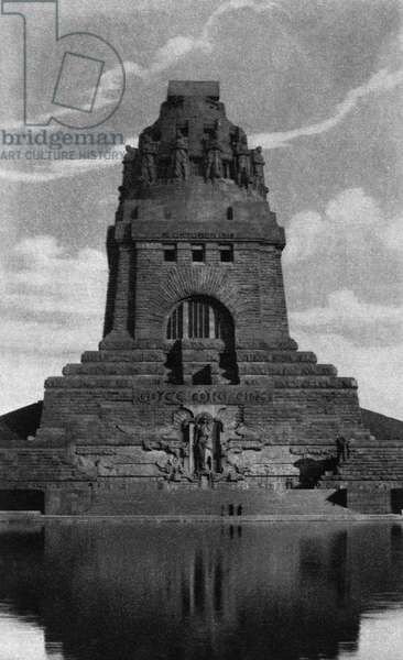 GERMANY: LEIPZIG, c.1920 The Monument to the Battle of the Nations (Volkerschlachtdenkmal) in Leipzig, Germany. Photograph, c.1920.