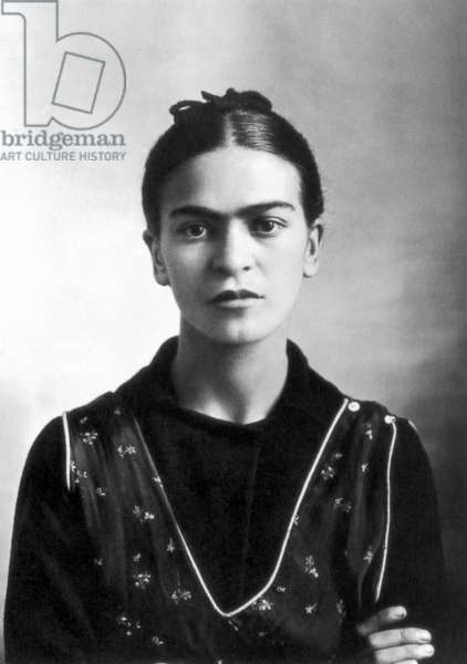 FRIDA KAHLO (1907-1954) Mexican artist. Photographed by Guillermo Kahlo, Mexico City, 1932.