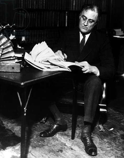FRANKLIN D. ROOSEVELT (1882-1945). 32nd President of the United States. Photographed c.1924.