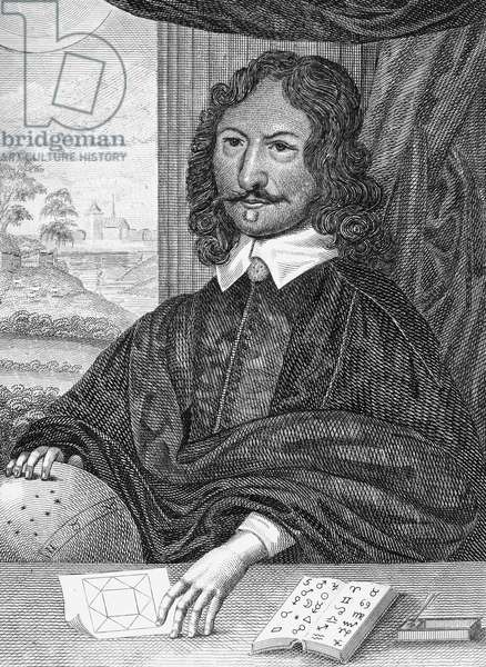 WILLIAM LILLY (1602-1681) English astrologer. Line engraving.