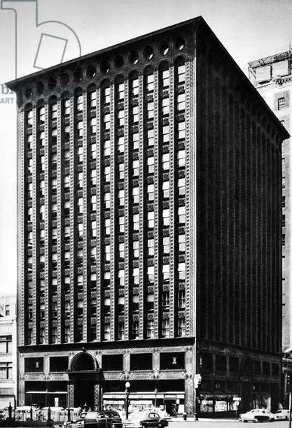 The Guarantee Building in Buffalo, New York (1894), designed by Louis H. Sullivan (1856-1924)