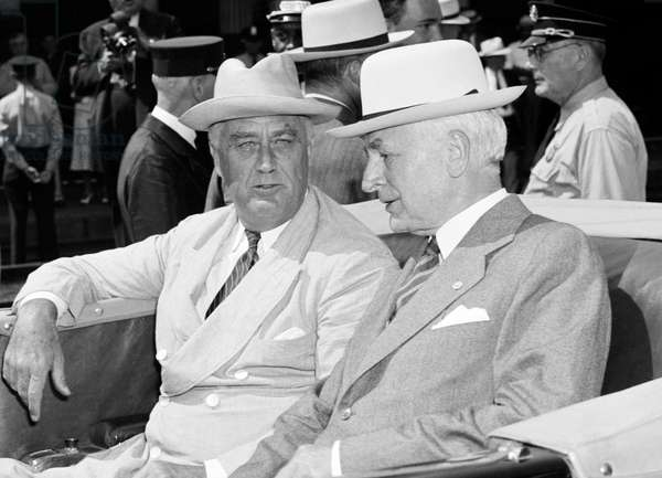 ROOSEVELT AND HULL, 1939 President Franklin Delano Roosevelt and Secretary of State Cordell Hull in Washington, D.C. Photograph, 24 August 1939.