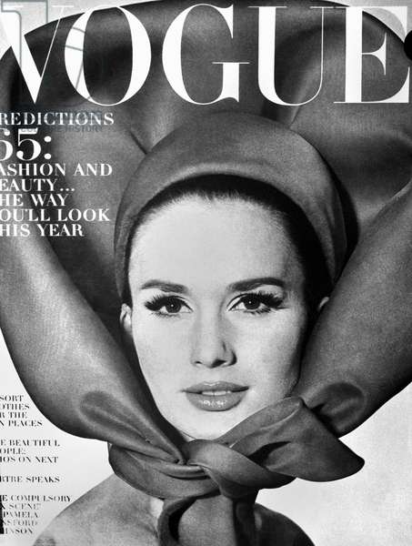VOGUE MAGAZINE, 1965 Cover of the 1 January 1965 issue of the American edition of 'Vogue' magazine.