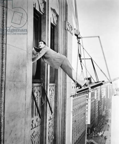 HAROLD LLOYD (1894-1971) American comedian. Lloyd in a 1920s movie still.