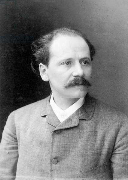 JULES MASSENET (1842-1912) French composer and musician. Original cabinet photograph by Nadar, 1889.