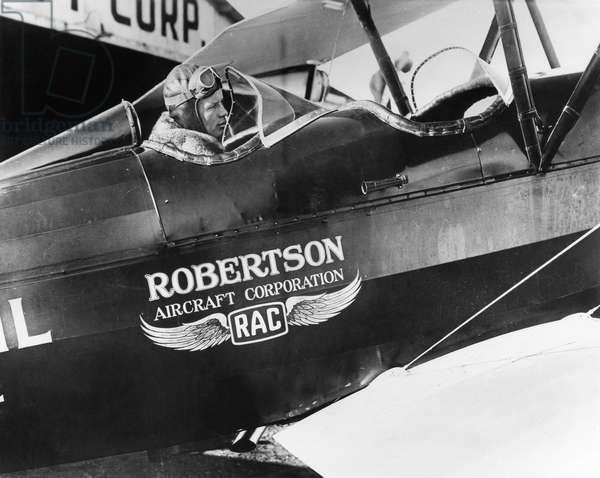 CHARLES A. LINDBERGH (1902-1974). American aviator. Photograph, c.1926.