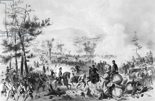 CIVIL WAR: GETTYSBURG The Battle of Gettysburg, 1-3 July 1863. American lithograph, 1864.