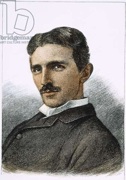 NIKOLA TESLA (1856-1943) American electrician and inventor. Born in Croatia, of Serbian parents. Wood engraving, American, 1894.