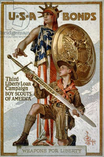 'U.S.A. Bonds - Third Liberty Loan Campaign - Boys Scouts of America - Weapons for liberty', 1917.
